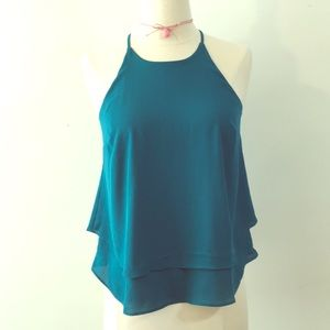 4 for 15 Blue/green high neck top